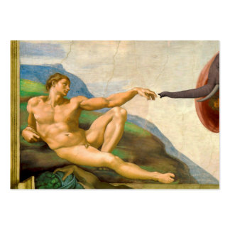 The Creation Of Adam Parody Large Business Card