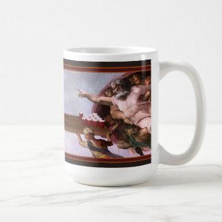 The Creation of Beer Pong Classic White Coffee Mug