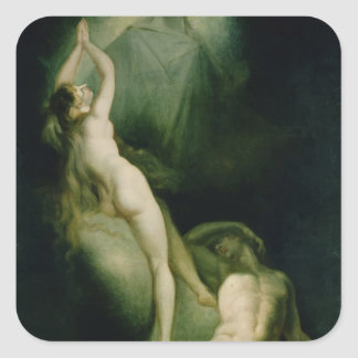 The Creation of Eve, 1791-93 Square Sticker