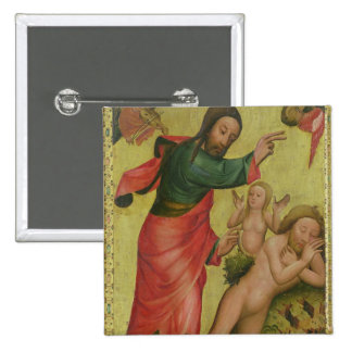 The Creation of Eve, a panel from Grabower 2 Inch Square Button