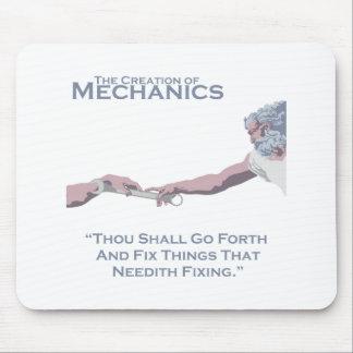 The Creation of Mechanics Mouse Pad