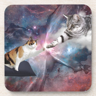 The Creation Of Meow Drink Coaster