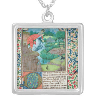 The Creation World, from 'Traite de Medecine' Silver Plated Necklace