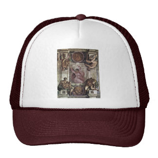 The Creator God, And Four Youths By Michelangelo Mesh Hat