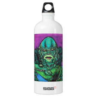 The Creature Lives Aluminum Water Bottle