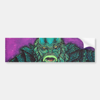 The Creature Lives Bumper Stickers