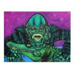 The Creature Lives Postcard