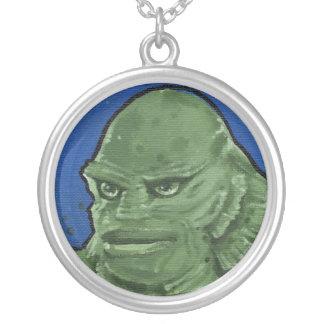 """the Creature"" Round Pendant Necklace"