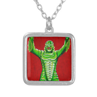 THE CREATURE SILVER PLATED NECKLACE