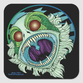 The Creature Square Sticker
