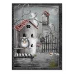 The Creek Gothic Folk Art Postcard