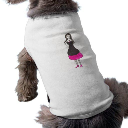 The creepy 80's prom doggie tee shirt