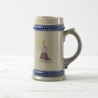 The Creepy Blonde Beer Stein