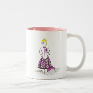 The Creepy Blonde Two-Tone Coffee Mug