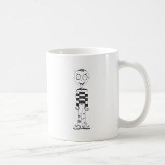 The creepy boy classic white coffee mug