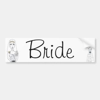 The Creepy Bride Car Bumper Sticker