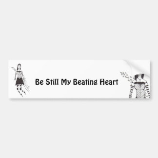 The Creepy Heart Girl Bumper Sticker
