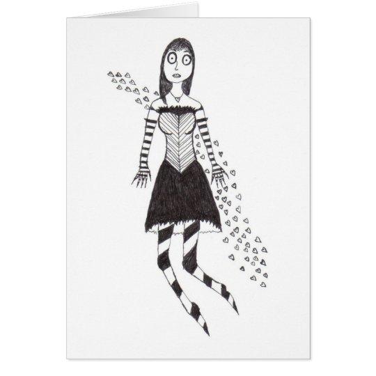 The Creepy Heart Girl Card