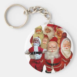 The Creepy Vintage Santa Gang Keychain