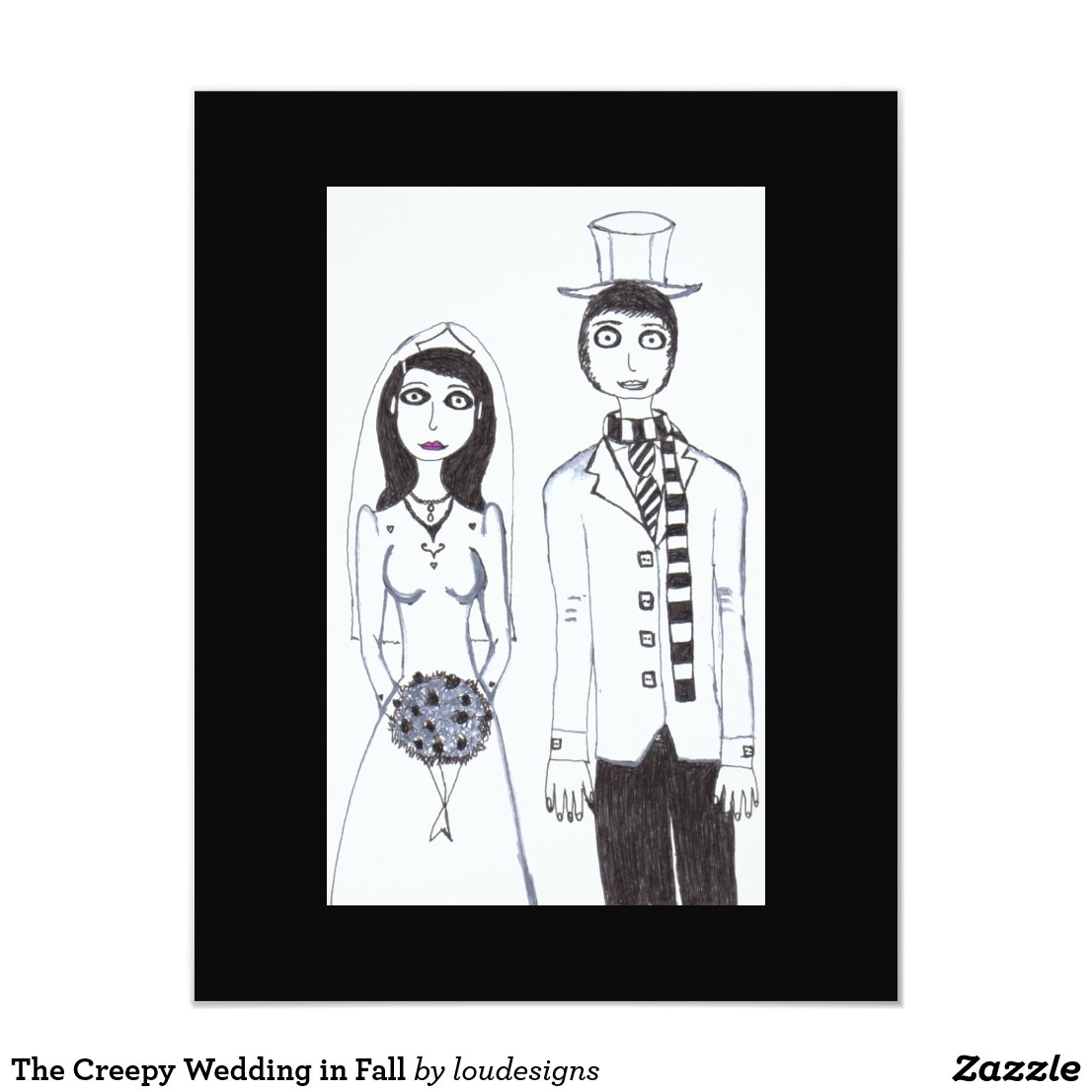 The Creepy Wedding in Fall Card
