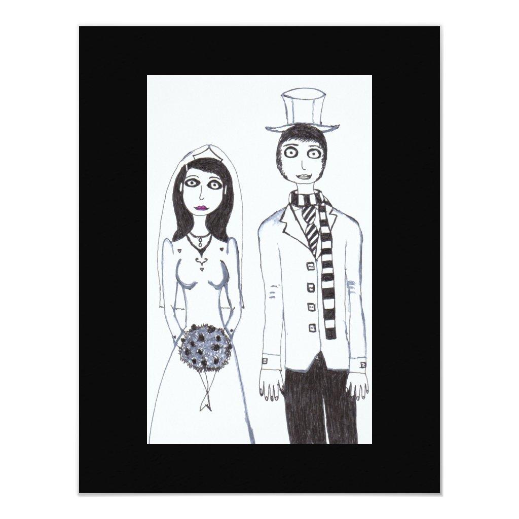 The Creepy Wedding in Fall Card