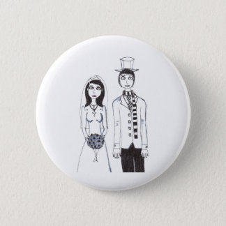The Creepy Wedding Pinback Button
