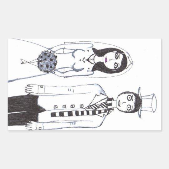 The Creepy Wedding Rectangular Sticker