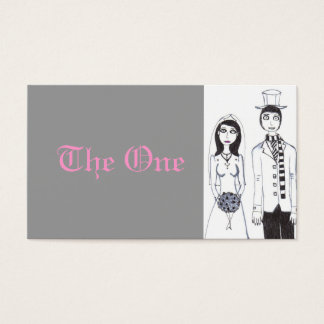 The Creepy Wedding table number Business Card