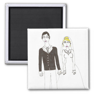 The Creepy wedding the Second 2 Inch Square Magnet