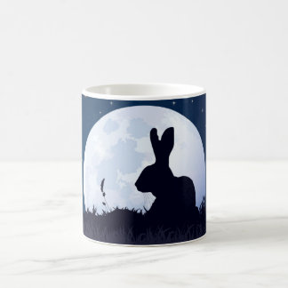 THE CREGGAN WHITE HARE COFFEE MUG