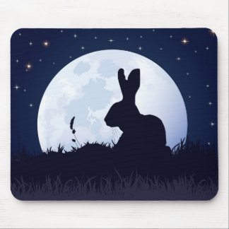 THE CREGGAN WHITE HARE MOUSE PAD
