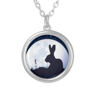 THE CREGGAN WHITE HARE SILVER PLATED NECKLACE