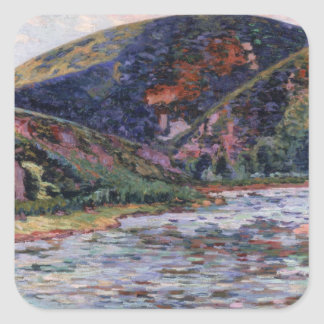 The Creuse in Summertime, 1895 (oil on canvas) Square Sticker