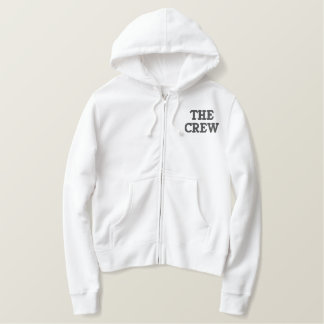 THE CREW EMBROIDERED ZIP HOODIE
