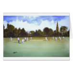 The Cricket Match Greeting Cards