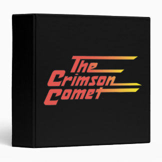 The Crimson Comet Logo 3 Ring Binder