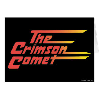 The Crimson Comet Logo Card