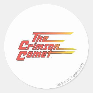 The Crimson Comet Logo Classic Round Sticker