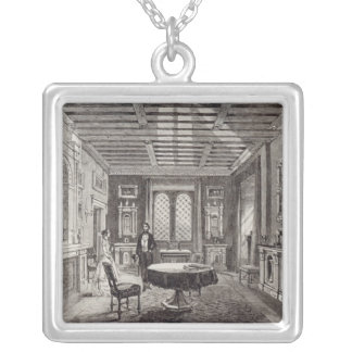 The Crimson Drawing Room, Lansdown Tower Silver Plated Necklace