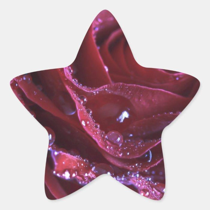 The Crimson Rose Star Sticker