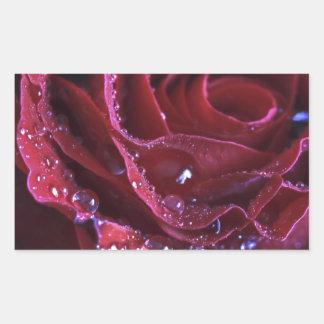 The Crimson Rose Rectangle Stickers