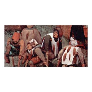 The Cripple By Bruegel D. Ä. Pieter (Best Quality) Picture Card