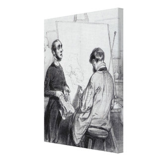 The Critic, published in 'Lecons et Conseils' Canvas Print