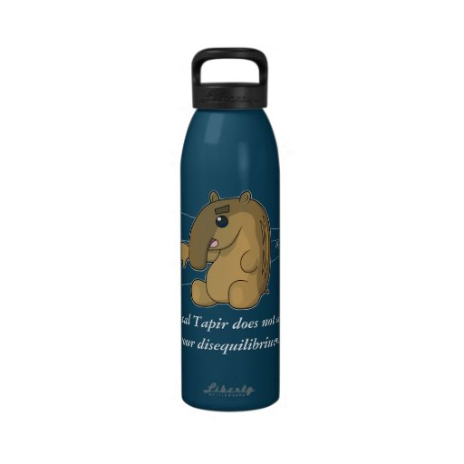 The Critical Tapir (Colored Bottle) Water Bottle