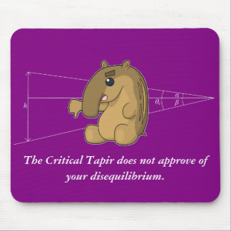 The Critical Tapir Does Not Approve Mouse Pad
