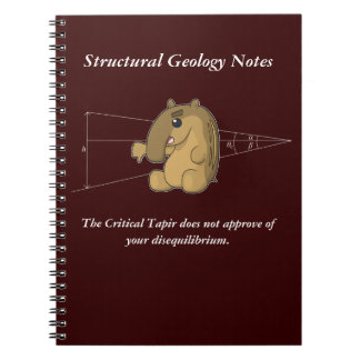The Critical Tapir Does Not Approve Spiral Note Book