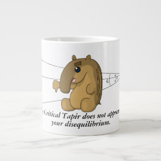 The Critical Tapir Does Not Approve 20 Oz Large Ceramic Coffee Mug