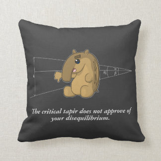 The Critical Tapir Does Not Approve Throw Pillow