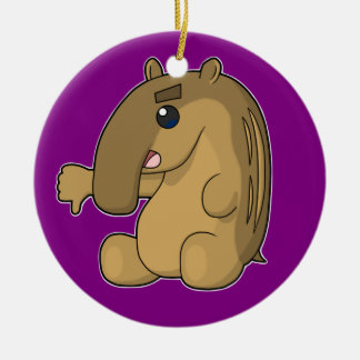 The Critical Tapir (Two-Sided) Double-Sided Ceramic Round Christmas Ornament