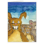 The Critters Want Cake Cartoon Birthday Card Greeting Card